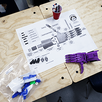 3d printed e-NABLE hand kits in schools