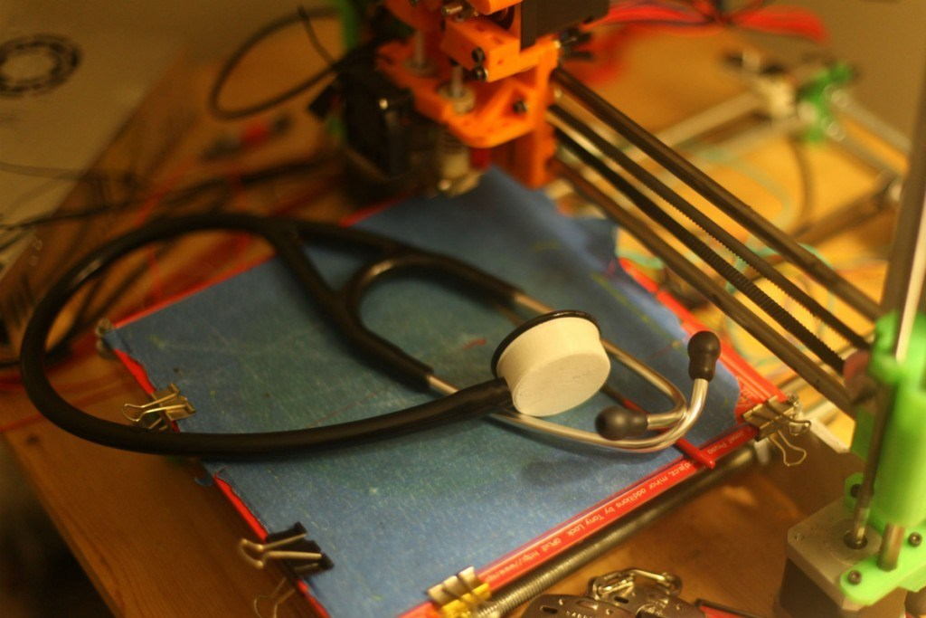 A 3D printed stethoscope