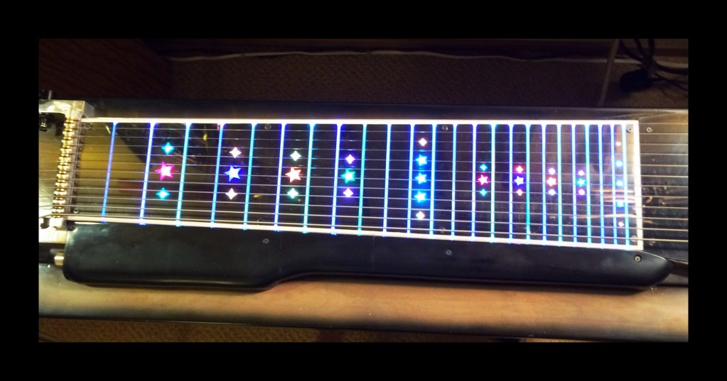 A  3D printed Fret board by Vic Chaney