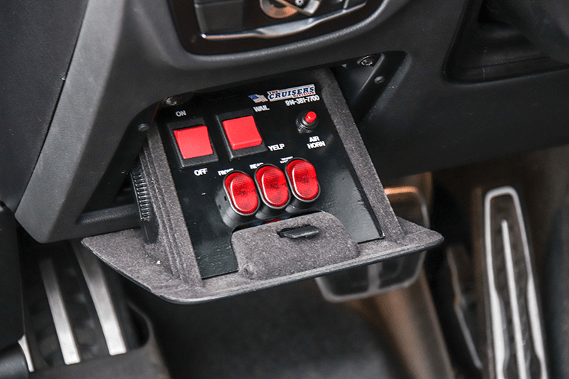 3D printed switch plates for police vehicles