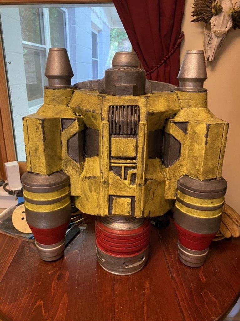 Completed Serial Kilter 3D Printed Heavy Infantry Mandalorian Armor jetpack