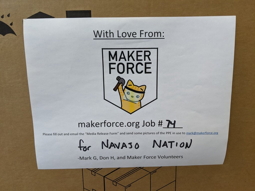 A MakerForce Donation for the Navajo Nation