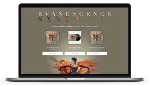 Sony Music - Evanescence - Web Design And Development Sydney