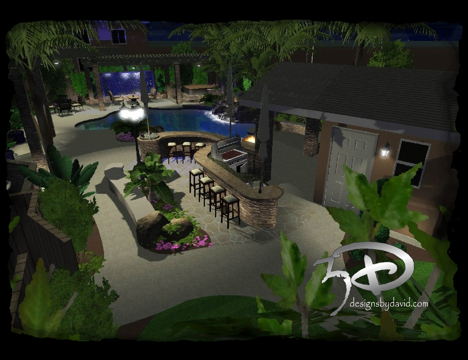 Cabanas  Outdoor Kitchens D Designs By David -  select outdoor kitchens