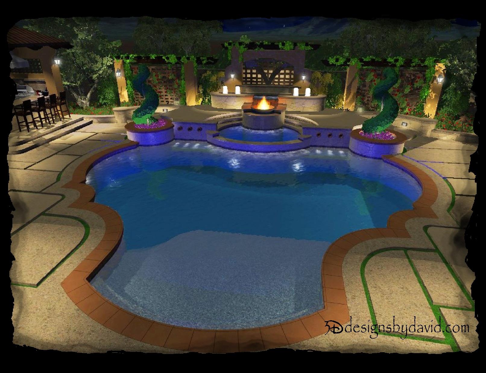Liquid designs 3d designs by david for Virtual swimming pool design