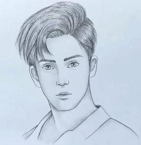 Boy Face Drawing