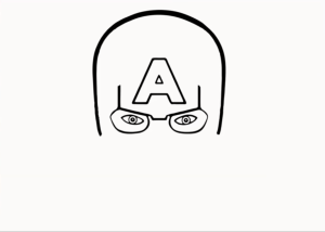 how to draw captain america