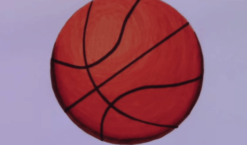 Basketball Drawing, How to draw a Basketball, Basketball painting, basketball drawing easy