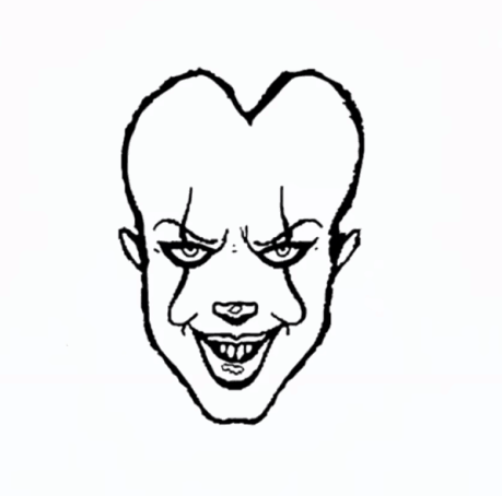 How to draw Pennywise
