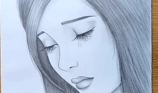 Girl Crying Drawing