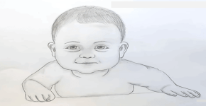 baby boy drawing