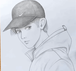 drawing easy boy beginners step drawings simple sketches sketch pencil 3dvkarts draw face hard related