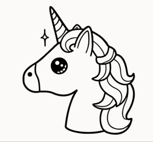 unicorn drawing easy step been