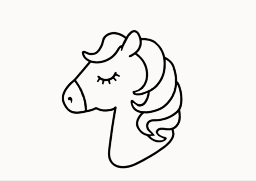 Step by Step unicorn drawing