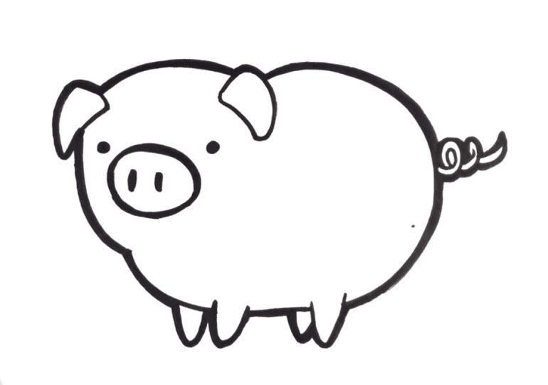 How to draw a Pig Easy