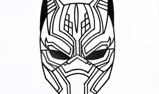 how to draw black panther