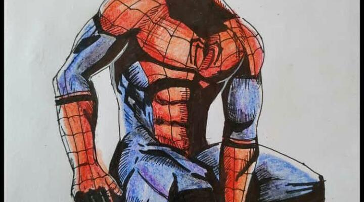 spiderman drawing