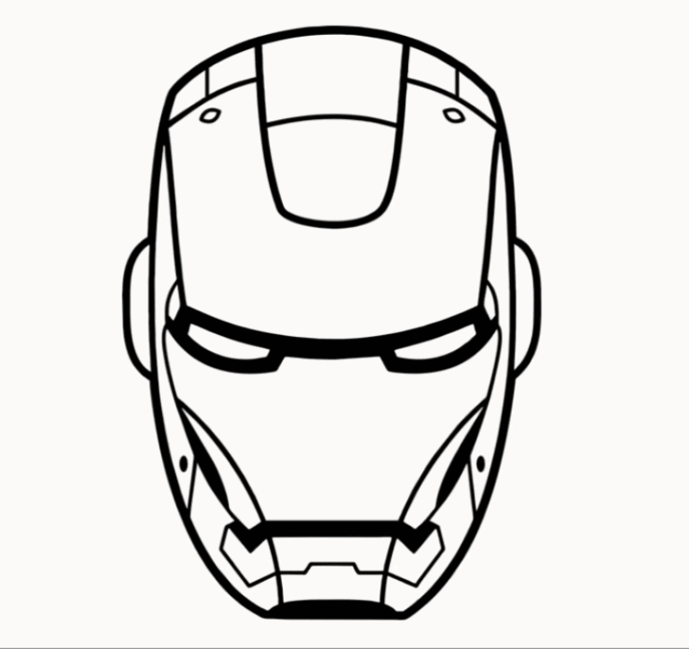 Iron man Drawing Easy