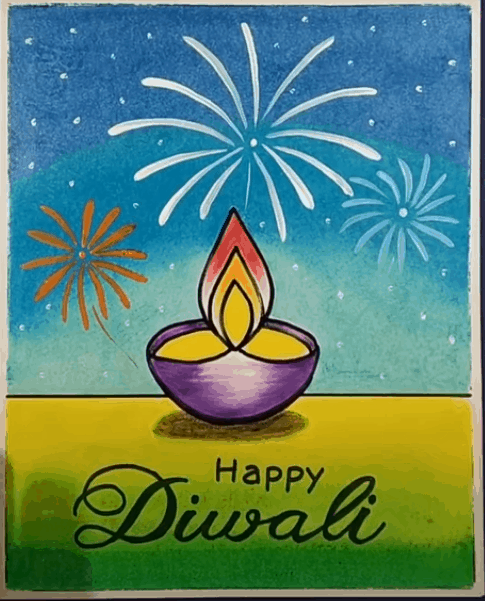 drawing on diwali