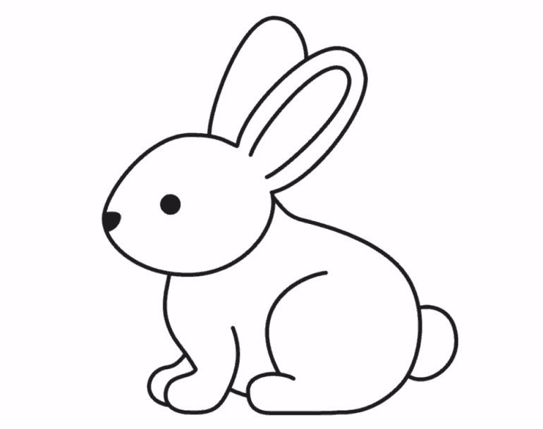 how to draw a bunny easy