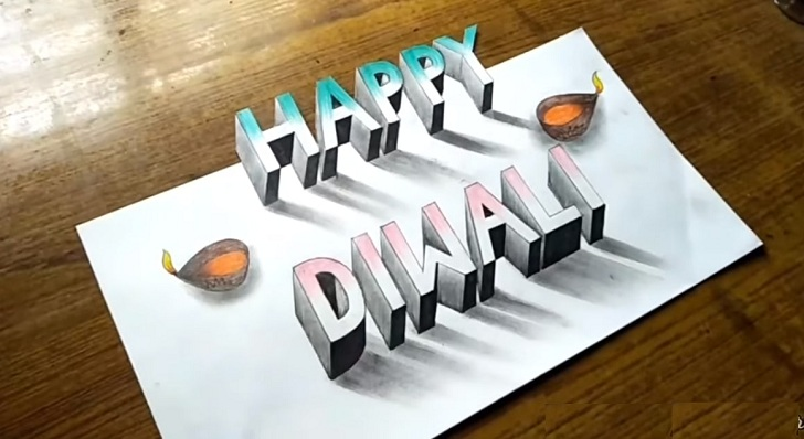 Diwali easy drawing