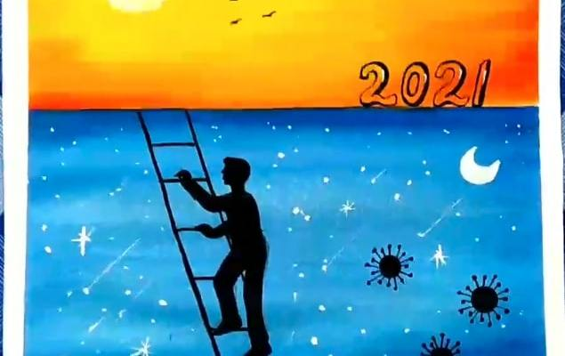 drawing of new year