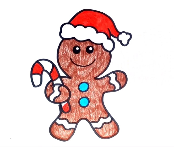how to draw a gingerbread