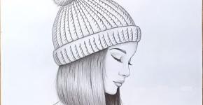pencil sketch of girl