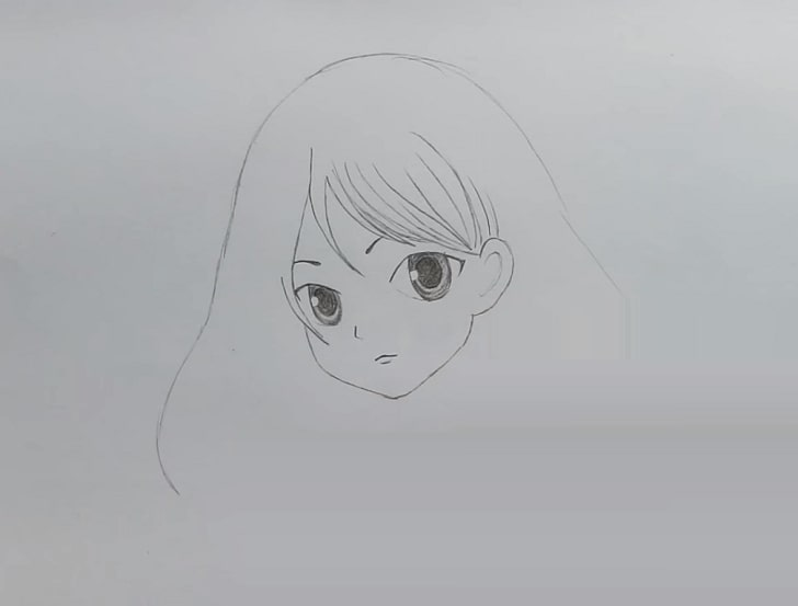 anime girl sketch