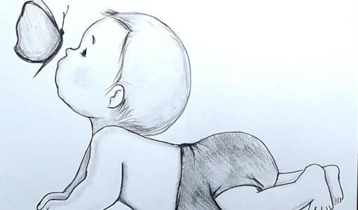 cute baby drawing