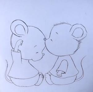 cute mouse drawing