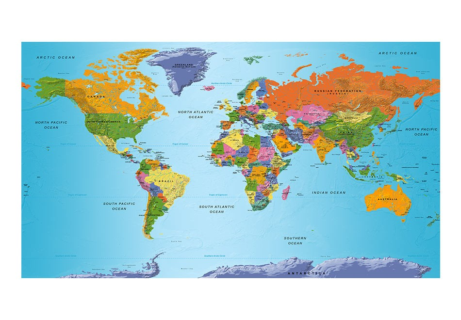 Xxl wallpaper world map colourful geography ii 3d wallpaper xxl wallpaper world map colourful geography ii 3d wallpaper murals uk gumiabroncs Image collections