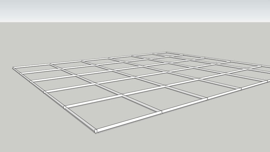 suspended ceiling grid 3d warehouse
