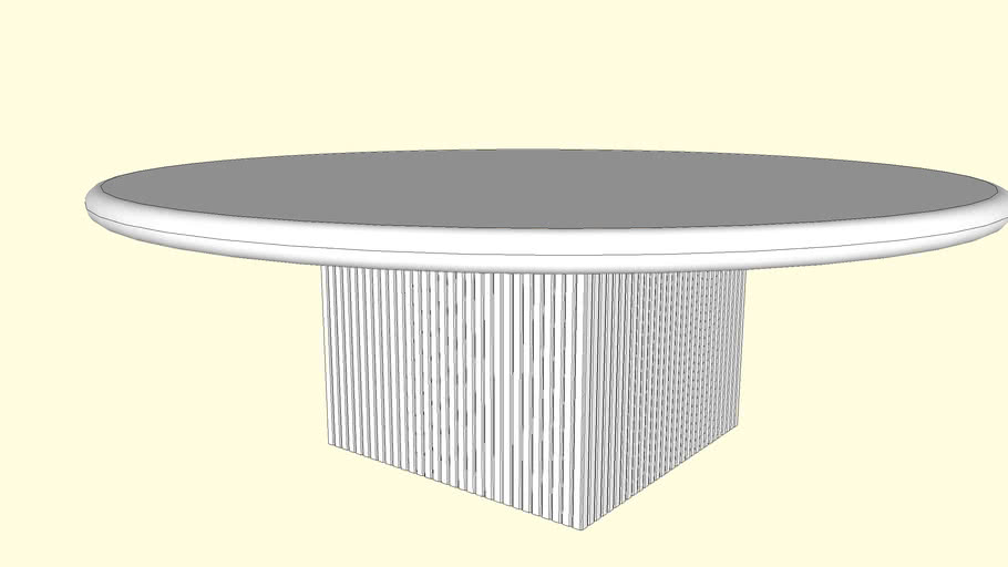 marble center table 3d warehouse