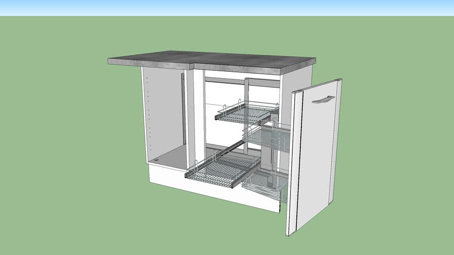 meuble de cuisine bas d angle 1 porte