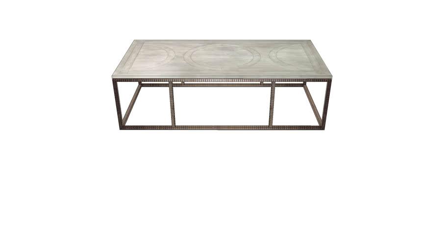 tavolino wood iron coffee table 3d