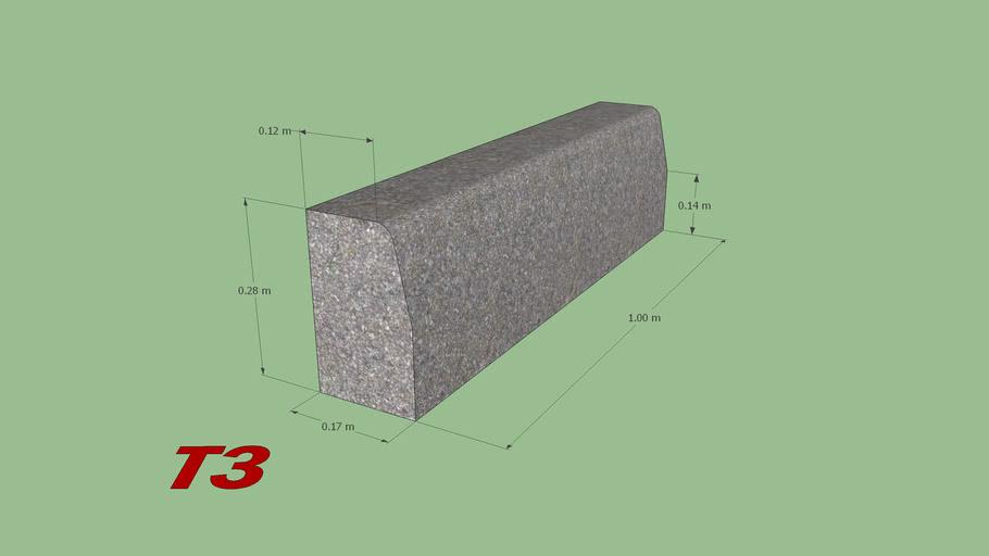 bordure beton t3 3d warehouse