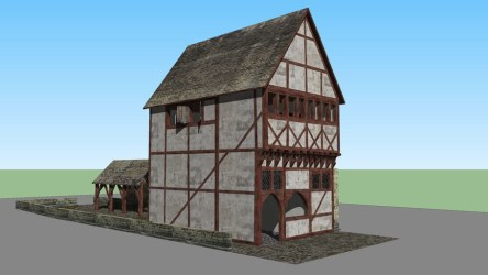 Medieval town house with interior 3D Warehouse