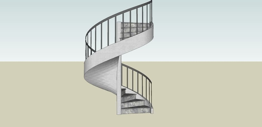 Spiral Staircase 3D Warehouse | 10 Foot Spiral Staircase | Reroute Galvanized | Lowes | Stair Kit | Winding Staircase | Staircase Kit
