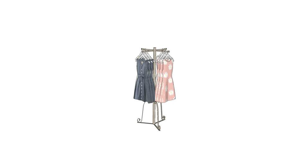 4 way clothes rack 3d warehouse