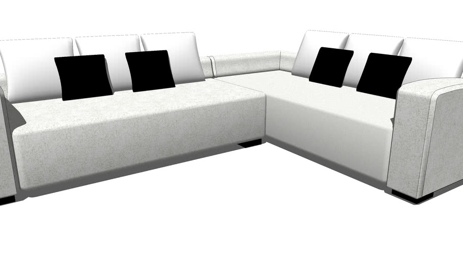 sofa en l no 17 3d warehouse