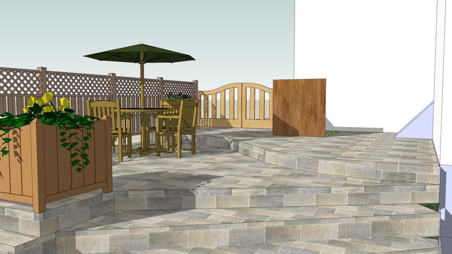 small backyard stone patio 3d warehouse