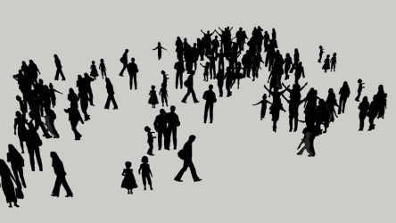 Group of People Silhouette 3D Warehouse