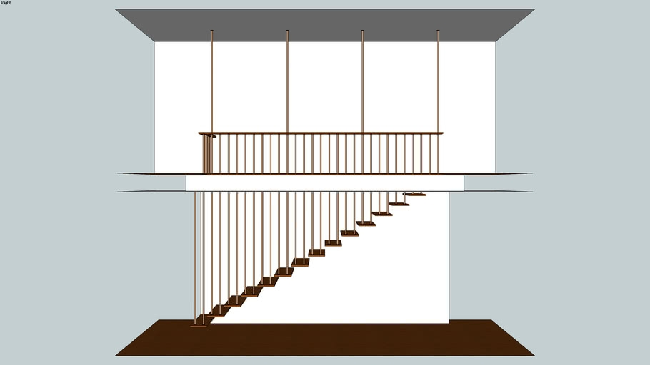 H13 Mid Century Modern Staircase 3D Warehouse   Mid Century Modern Stairs   Modern Craftsman   Design   Modern Middle House   Industrial Modern   Lighting