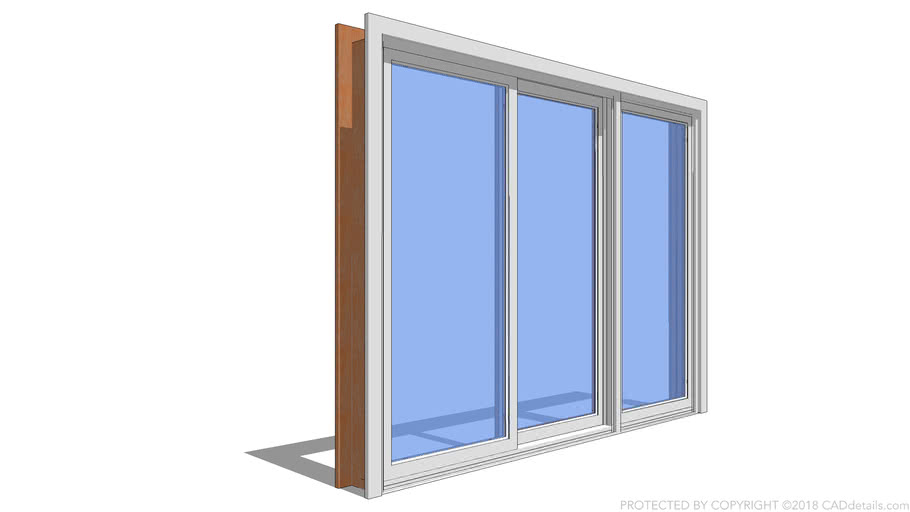 premium series sliding patio door 3 panel 3d warehouse