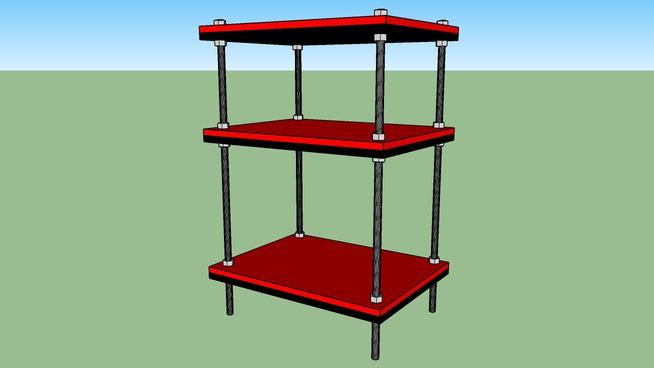 diy audio rack flexy w steel rods