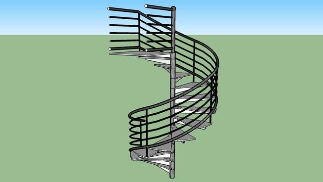 Spiral Staircase Exterior Metal 3D Warehouse | Exterior Metal Spiral Staircase | Interior | Outdoor | Free Standing | Custom Exterior | Model