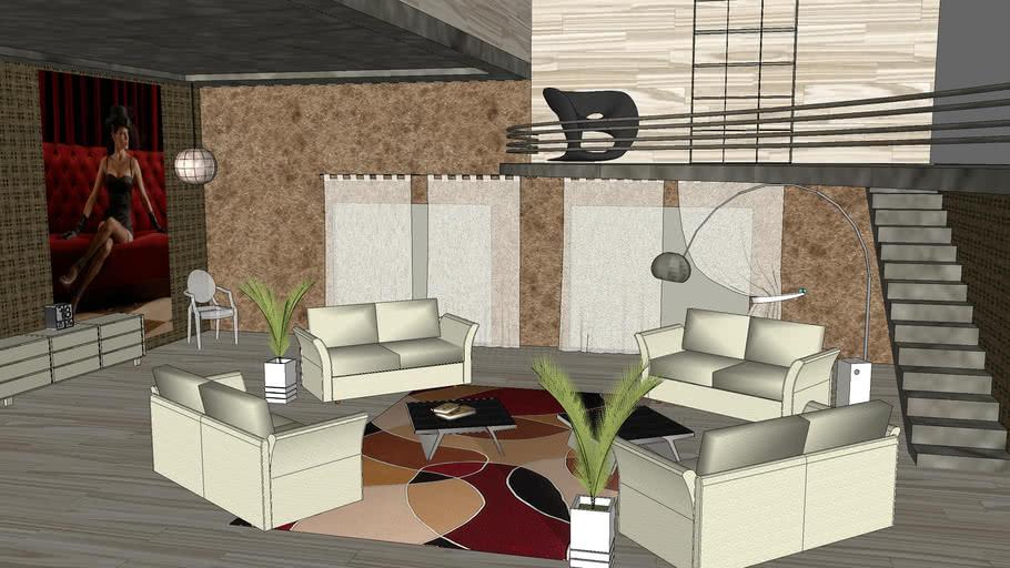 Luxury Living Room 3d Warehouse