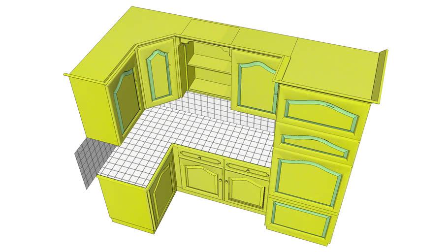 meuble cuisine d angle 3d warehouse