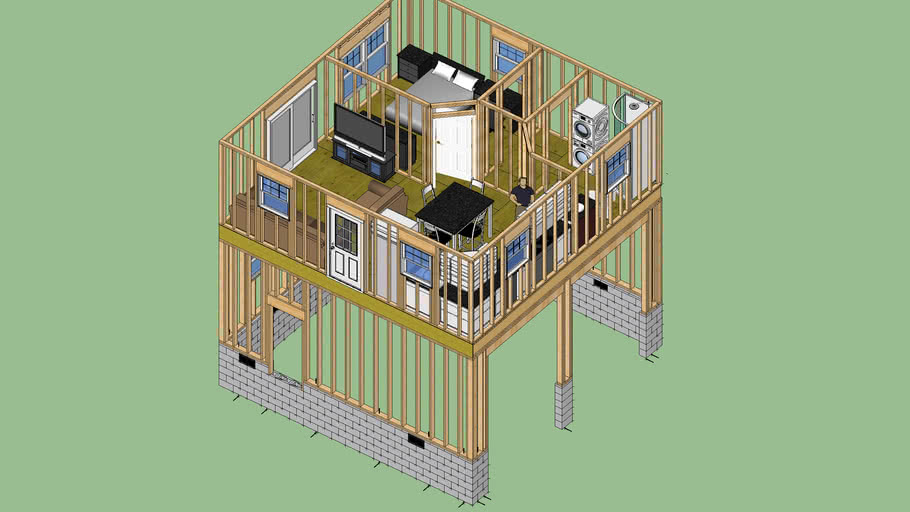 24x24 Apartment Garage 3d Warehouse